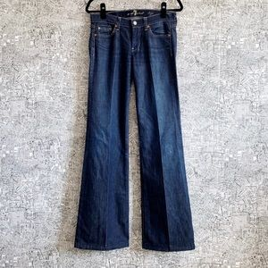7 for All Mankind Dark Wash Dojo Jeans, Size 27